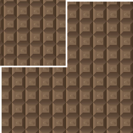 seamless chocolate pattern with a decor element for your use and needs Vector