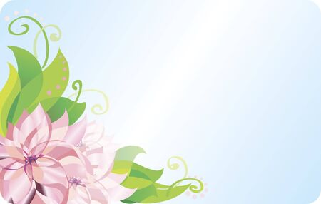 Card with gentle romantic floral background