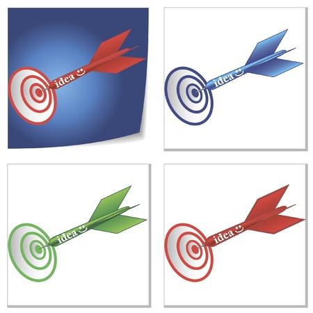 a set of idea on target illustrations
