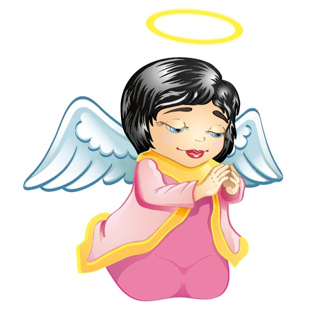 Cute little baby angel Stock Vector - 11316744