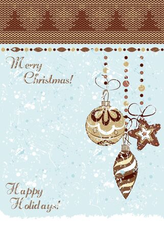 Christmas vintage decorative background