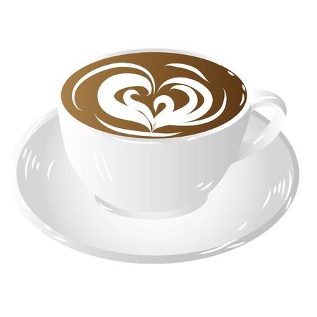 taza de café, aislados en fondo blanco
