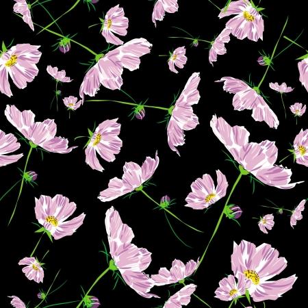 floral pattern flower cosmos bipinnatus  Vector