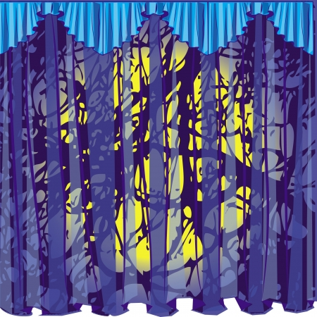 curtain blue big grunge this lambrican Illustration