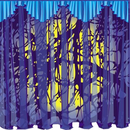 curtain blue big grunge this lambrican Illustration