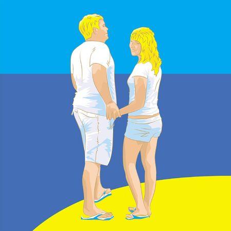 men and women on beach
