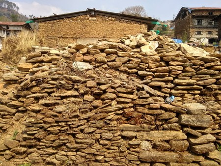 Dry Stone Wall of Rural Village