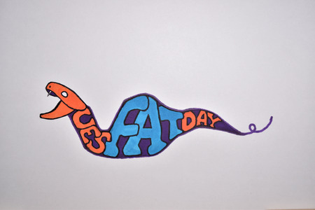 Fat Tuesday Letters  Snake-Shaped Drawing