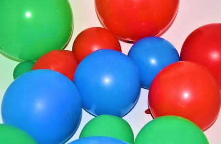 Balloons Red Blue Green Banco de Imagens