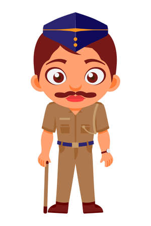 Indian, Man, Police, Constable, Indian Police Service, Characters, Security & Government Employees