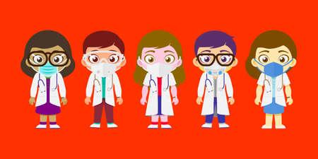 Doctors, Team, COVID-19 Warriors & Hospital Full Staff