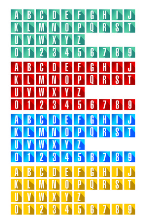 alphabetic: These are Alphabetic  Number Icons with different color schemes