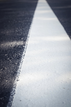 white line on new road.