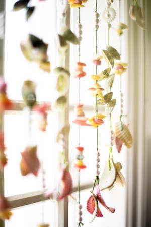 hanging threads for window decor 免版税图像 - 155913225