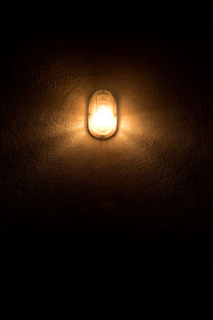 light bulb on the wall 免版税图像
