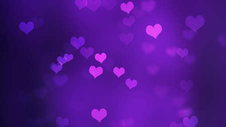 abstract valentine background with bokeh and Hearts 免版税图像