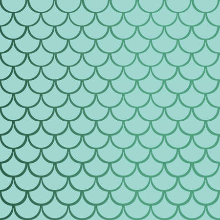 Vector gradient blue mermaid fish scale seamless pattern background.