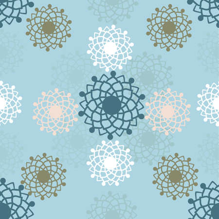 Vector traditional ornamental flower mandala seamless pattern background.