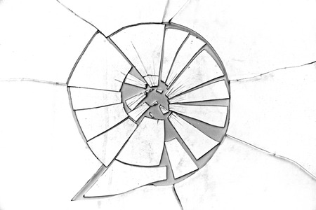 gritty: Broken Glass over a grainy surface.   This image makes a great background or use as a gritty Broken Glass grunge layer to any image.   Presented in high key Black and White.