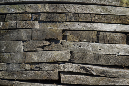 split up: A close up view of stacked planks of wood