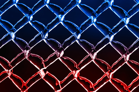 link up: A close up abstract background image of a color inverted chain link fence.