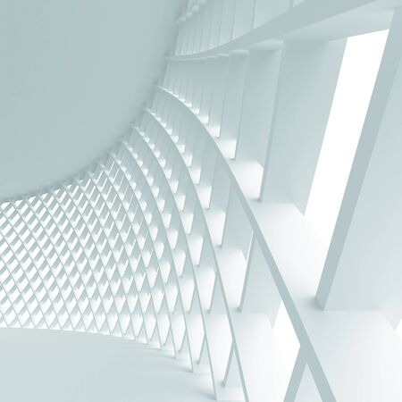 Futuristic architecture background. 3d rendered image