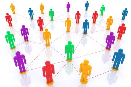 Social network. 3d rendered illustration Stock Illustration - 11246447