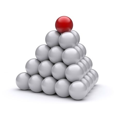 Red ball on top of the pyramid photo