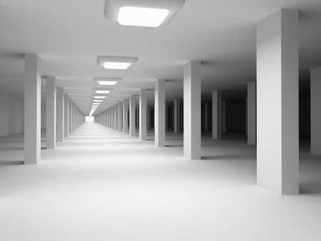 Architectural background. Underground garage. 3d rendered image photo