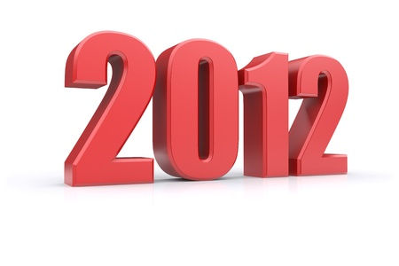 2012 on a white background. 3d rendered image Stock Photo - 11490154