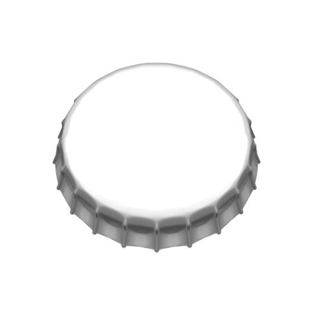 Isolated beer cap. 3d rendered image  photo