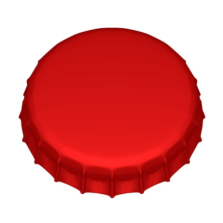 Isolated beer cap. 3d image photo