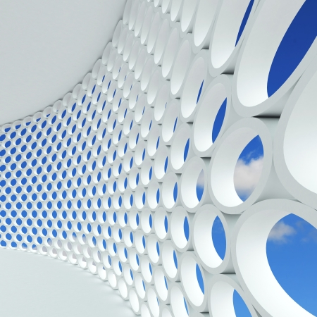 urban scene: Futuristic architecture background. 3d rendered image