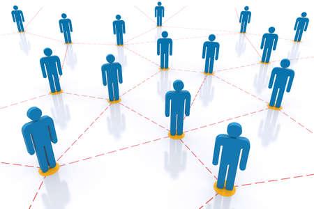 Social  Network. 3d image photo