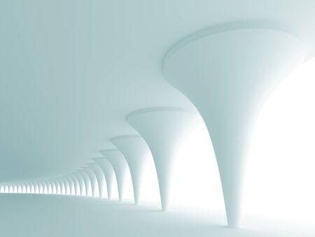 Abstract architectural background. 3d rendered image photo