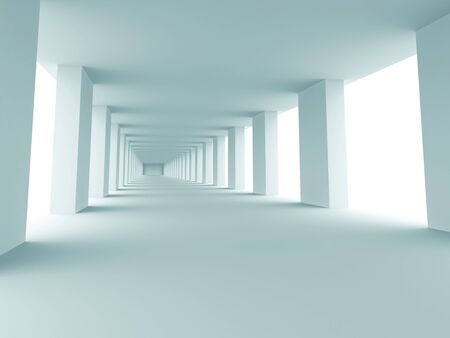 Abstract modern entrance hall. 3d rendered image photo