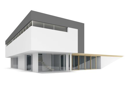 house render: 3d house on a white background.
