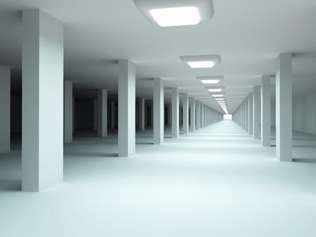 Architecture background. Underground garage. photo