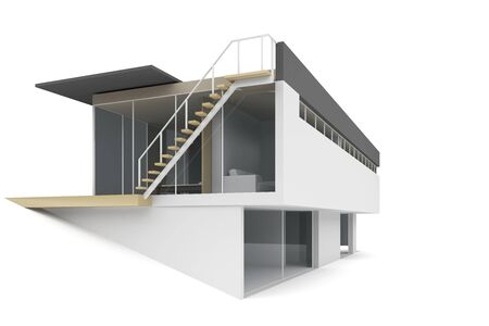 3d modern house on a white background Stock Photo - 11850312