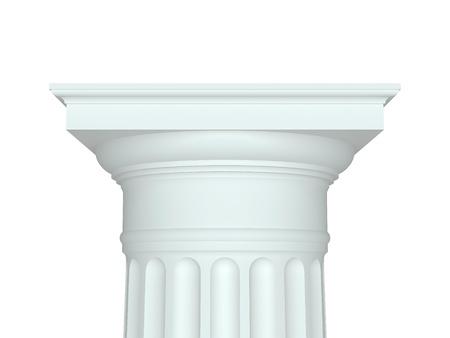 doric: Isolated doric capital. 3d illustration Stock Photo