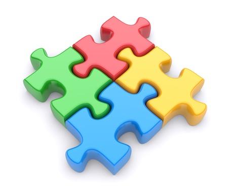 entreprise puzzle: Puzzle sur un fond blanc. 3d image