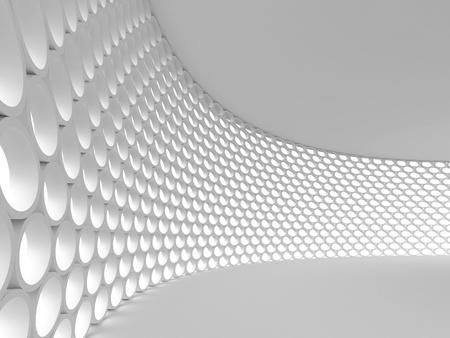 futuristico: Astratto sfondo architettonico. Immagine di rendering 3D