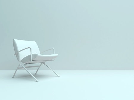 empty chair: Empty room with one chair.  Stock Photo