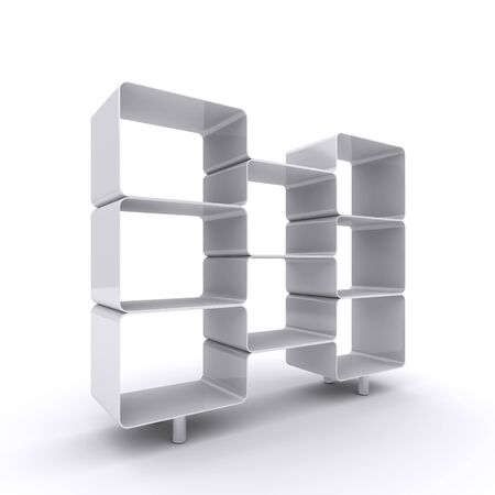 Empty shelves for your content.  3d illustration Stock Illustration - 11850424