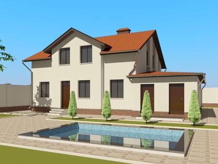 3D house sketch Stock Photo - 11850915
