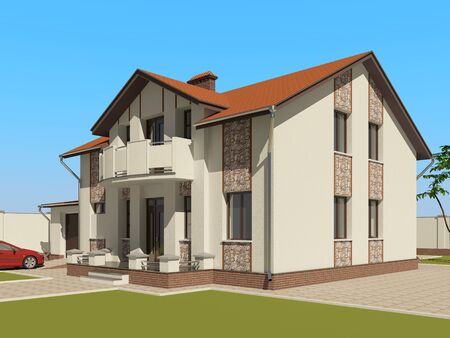 3D house sketch Stock Photo - 11850913