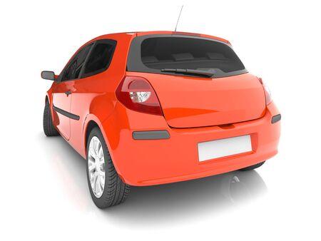 shiny car: Geïsoleerd rode auto. 3d beeld