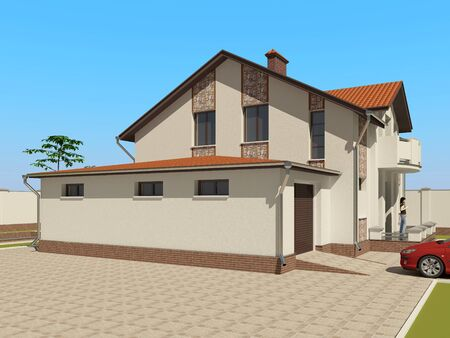 3D sketch of the house Stock Photo - 11851248