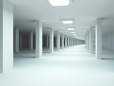 지하에: 아키텍처 배경입니다. 지하 주차장. 스톡 사진