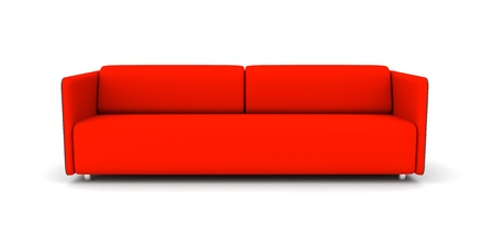 Red sofa. 3d rendered image Stock Photo - 11911487